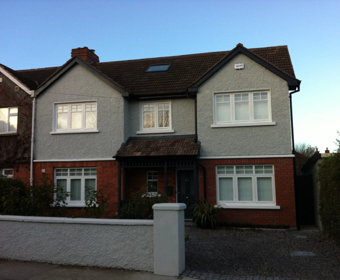 Extension & renovation of semi-detached house in Dartry
